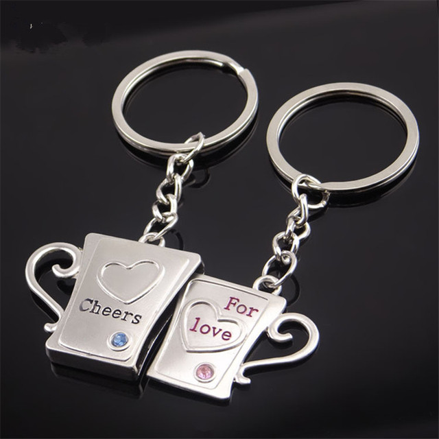 online shop 2018 lover s couples keychains creative gifts key chain