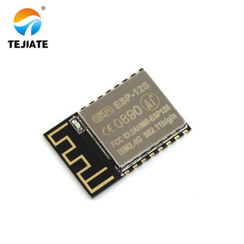 1PCS ESP-12S (ESP-12F upgrade) ESP8266 remote serial Port WIFI wireless module New version TEJIATE esp8266 esp 01 serial wi fi wireless transceiver module with esp 01 adapter