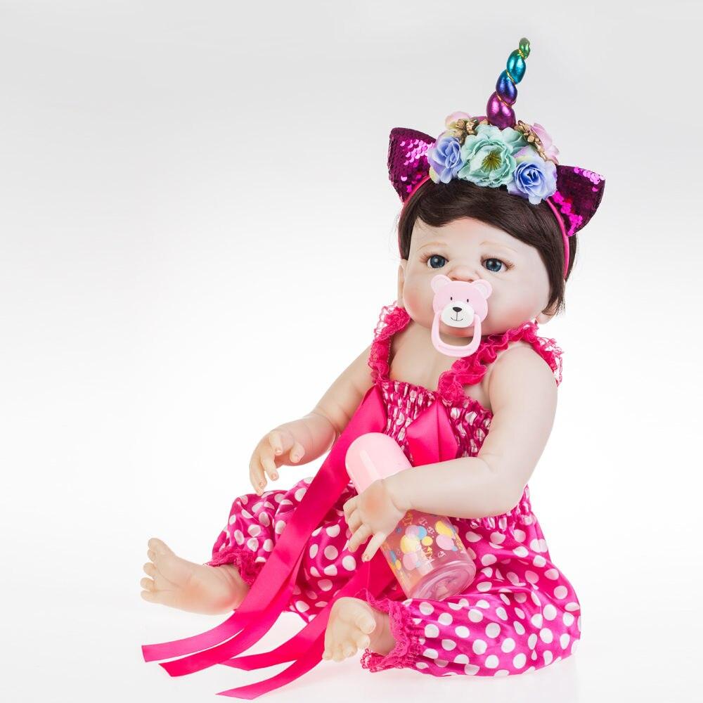 "NPK 57 เซนติเมตรน่ารักซิลิโคน Reborn ตุ๊กตา Bebe เด็กทารกสาวนุ่ม 22 ""ตุ๊กตาเสื้อผ้าที่ดีที่สุด brinquedos สำหรับเด็ก-ใน ตุ๊กตา จาก ของเล่นและงานอดิเรก บน   2"