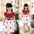 Summer New Girl Princess Dress Korean Big Girls Elegant Dresses Flowers Beautiful Girls Dresses Kids Clothes