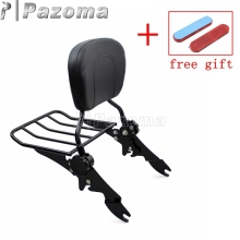 Moto Parts Sissy Bar Luggage Rack Detachable Rear Passenger Backrest for Harley Touring Models 2009-2017