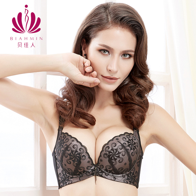 509308ec26 Adjustable Lace Push Up Bra Brassiere For Women Top Bralette Underwire  Medium Padded Plus Size Bra Sexy Underwear Sheer Bras