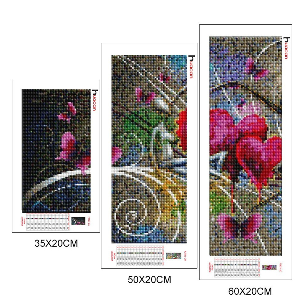 Huacan Lover Diamond Painting Needlework Cross Stitch Full Square Mosaic Multi-picture Combination Rhinestones DIY Gift
