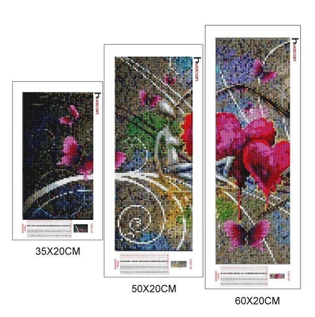 Huacan Lover Diamond Painting Needlework Cross Stitch Full Square Mosaic Multi picture Combination Rhinestones DIY Gift