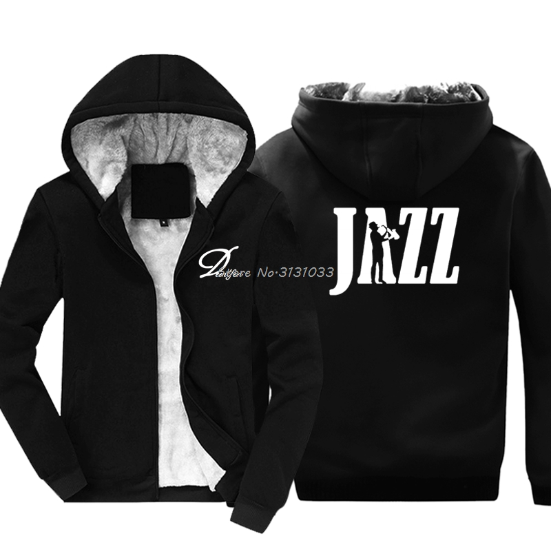 Fashion Brand Clothing Jazz New Saxophone Funny Sweatshirt Casual Men Cotton Thicken Keep Warm Hoodie Hip Hop Male Streetwear
