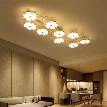 Plum blossom modeling Surface mounted modern ceiling chandelier lights for living room bedroom chandelier Acrylice lampshade リビング シャンデリア