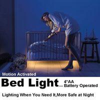 4AA Battery Powered LED Strip Lights Motion Activated LED Bed Lights With Timer Sensor For Chrildren