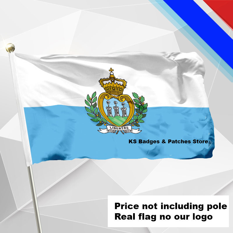 San Marino Flag Flying Flag Fabric Flag Flying Flag Various Size Price Not Including Pole