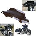 8'' Motorcycle Windshield Windscreen Wind Deflectors For Harley Electra Street Glide FLHX Touring Motorbike ABS Wave Dark Bike