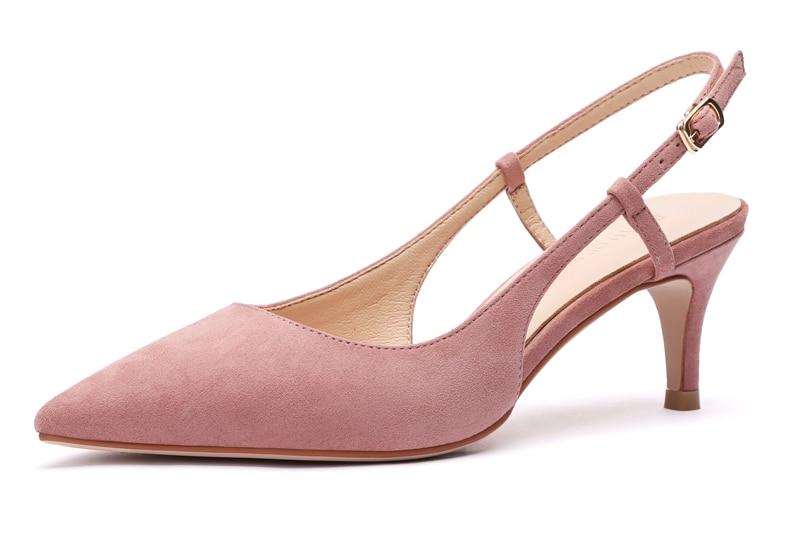 Woman's Spring 6cm Thin High Heels Slingbacks 13
