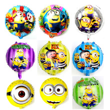 30pcs/lot Minion Despicable Foil Balloons my little Minion party Birthday Inflatable Cartoon Kids Toy globos Decoration despicable me minion slipper little kid big kid