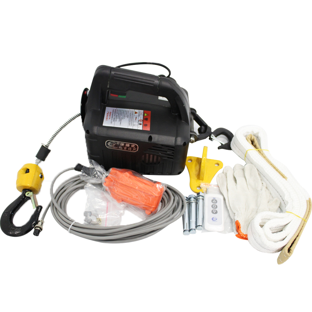 Portátil da Tração do Guincho da Grua 300kgs de Controle Grua Elétrica Remoto Mini Guindaste Pequeno 220 v – 110 Mod. 156932