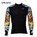 Одежда для велосипедной езды Paladin  Спортивная мужская одежда из Джерси с длинным рукавом и рисунком бешенства  велосипедная одежда  топ на м...