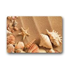 Speicher Home Fashion Stil Tür Mat Decor Sandy Strand Shell Starfish Fußmatte Boden Matte Bad Matte Innen Küche Bad Matte(China)