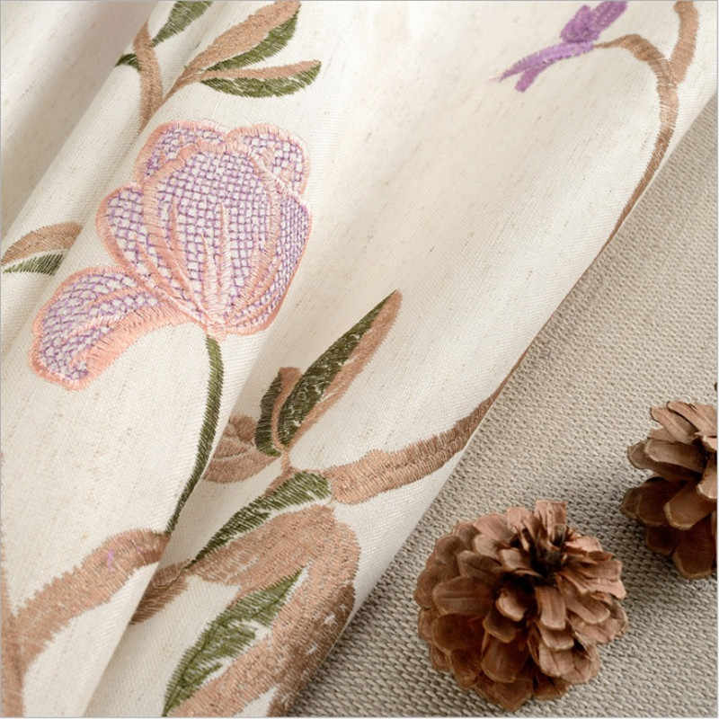9b7008b3535e97 ... Modern green coffee blue lily fancy hot sale curtain cloth drapes for bedroom  living room window ...