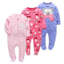 Orangemom/Рождественская одежда для малышей; сезон весна-осень; Мягкие флисовые комбинезоны для новорожденных; комбинезон для малышей 0-24 месяцев; детские костюмы с героями мультфильмов; пижамы