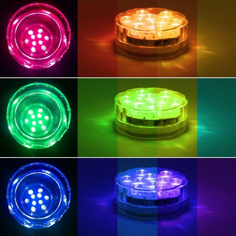 4st / lot Fjärrvattent nedsänkt LED-ljuskälla för kristallglas, - Festlig belysning - Foto 5
