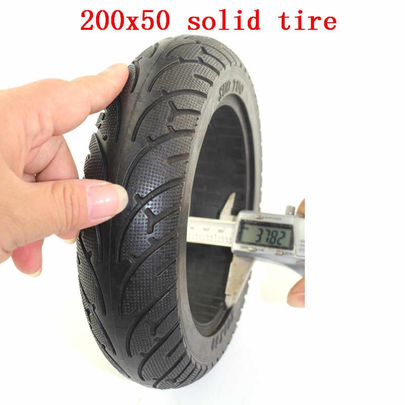 モビリティスクーター車椅子タイヤ 200x50 (8 × 2) 固体/泡いっぱい 200 × 50 用 E100 E125 E200 スクーター Vapo