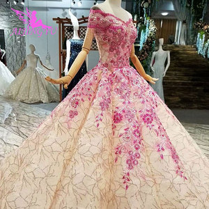 Image 5 - Aijingyu 슬리브 웨딩 드레스 국가 가운 아름다운 판매 여성 아랍어 3d 화이트 가운 싱가포르 얇은 명주 그물 드레스