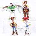 Toy Story 5 Buzz Lightyear Woody Jessie unids/set PVC Figuras de Acción Juguetes de Regalo Niño 11 ~ 12.5 cm