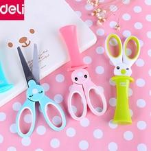 Deli Children Scissors Cute Kawaii Rabbit School Scissors for DIY Scrapbook Paper Diary Craft Decorating Tools Office School