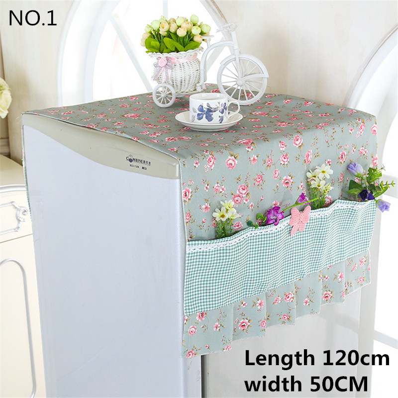 Good Quality Breathable Refrigerator Laundry Hood Dust-proof Cover Single Door European Style Pastoral Style Lace Hood