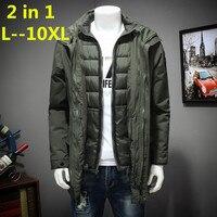 10xl 8xl 6xl поле Base осенне зимняя куртка мужчин 2 в 1 комплект куртка ветрозащитная куртка с капюшоном пальто Повседневное мужской спортивной ку