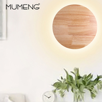 Modern Wood Round Lights Decoration Wall lamp Nordic Minimalist Hallway Balcony LED Wall Light home Natural Style Bed Lights