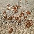 O Envio gratuito de 5 MM/w 400 Pcs Cor de Rosa de Ouro Jóias Salto Anéis & Split Rings Achados DIY Jóias & Acessórios