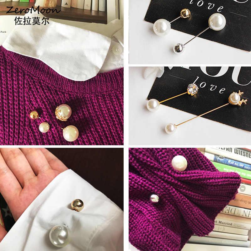 Kore basit inci kelime Pin broş kadın broş vahşi kazak yaka İğneli aksesuarları kadınlar moda takı