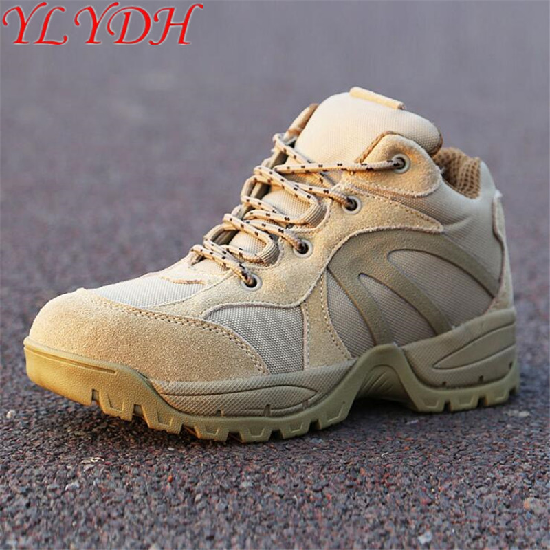Military Tactical Boots Desert Combat Outdoor Army Hiking Travel Shoes Leather Boats Autumn Ankle Men
