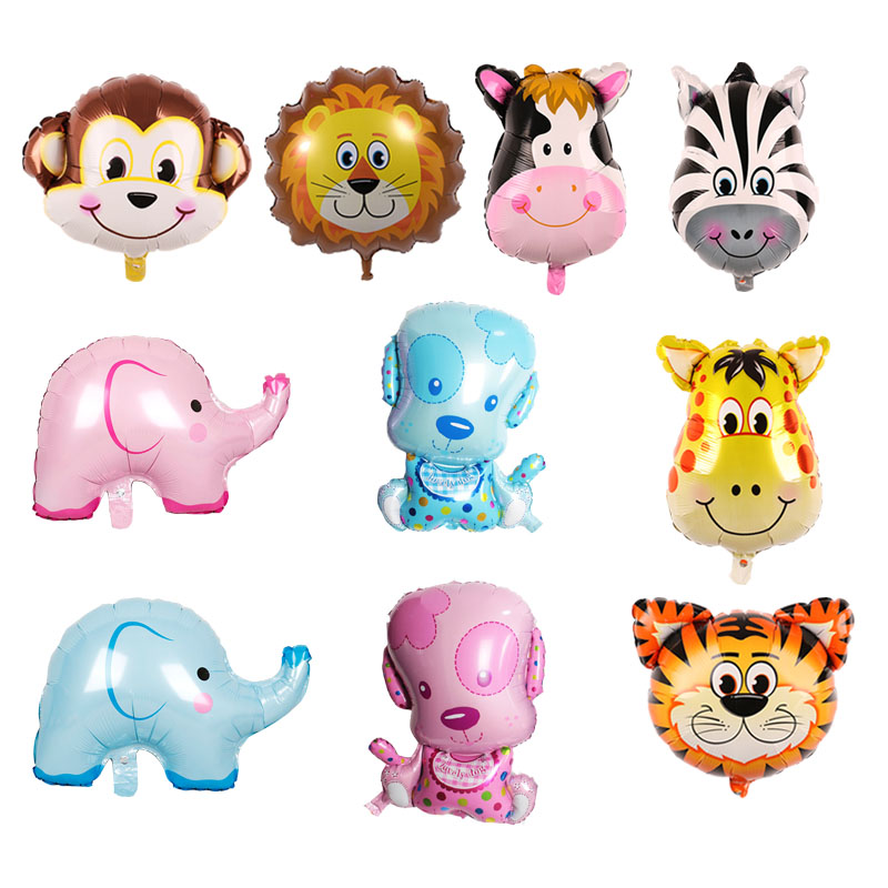 Ballons & Accessories 100% True Walking Dog Helium Balloons Cute Pig Elephant Giraffe Air Ballons Animal Theme Happy Birthday Party Decorations Kids Gifts 5pcs