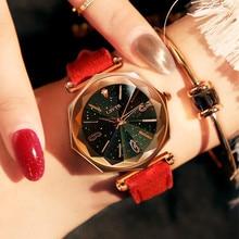 Casual Creative Strap Ladies Watch Fashion Water Diamond British Gift Chronograph Waterproof