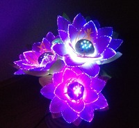 Led Flower Lights Lotus Light Buddha Lamp Fo Lamp Novelty Artistic Optical Fiber Flower