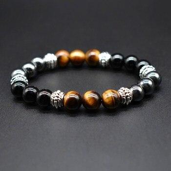 Bracelet Obsidienne Homme