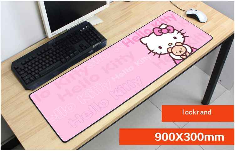 742404259 hello kitty mouse pad 900x300mm pad to mouse notbook computer Mass mousepad  gaming padmouse locrkand gamer