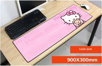 Hello kitty mauspad 900x300mm pad maus notbook computer masse mousepad gaming padmouse locrkand gamer zu tastatur mauspad