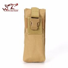 Adjustable MOLLE Hunting Bag Radio Holder Tactical Walkie Talkie Holster Open Top with Buckle M4 Mag Pouch(China)