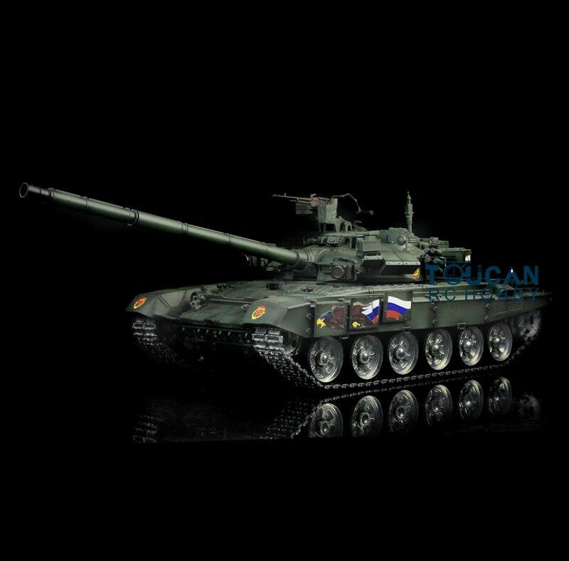 FäHig Henglong 1/16 Skala Darkish Grün Russische T90 Rtr Rc Tank Modell Metall Tracks Räder 360 Grad Rotation Revolver 3938 Th00159 Gute QualitäT Rc-panzer