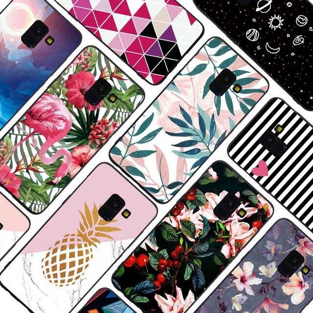 Filecase Phone Case For Samsung S8 S9 Plus S6 S7 Edge Note 9 8 Flower Flamingo Cat Fish Marble Stars Case Cover Skin Funda Coque