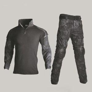Image 3 - BDUยุทธวิธียุทธวิธีทหารผู้ชายUS Armyเสื้อผ้าAirsoftทหารเสื้อ + กางเกงเข่าPads