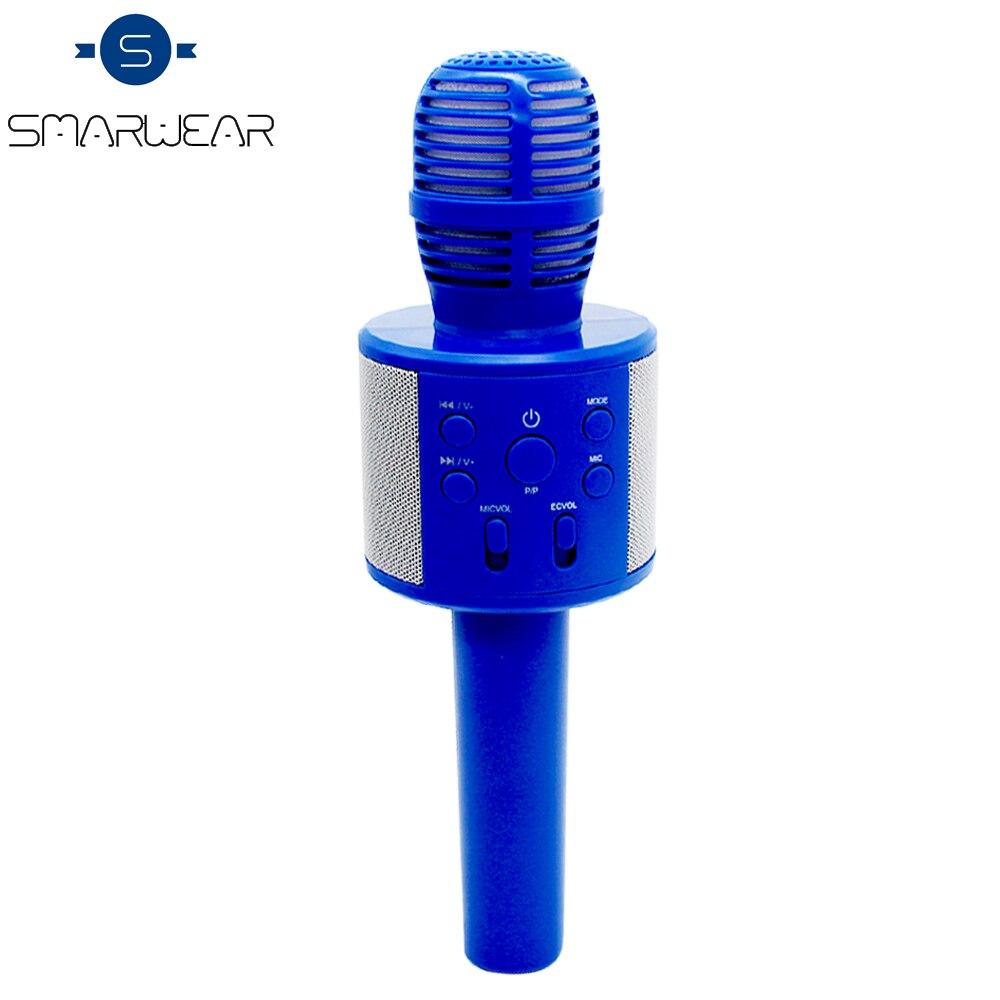 все цены на Q858 Wireless Karaoke Bluetooth KTV HIFI Speaker Echo Mixer Condenser with Mic Singing music Record meeting Microphone Speaker онлайн