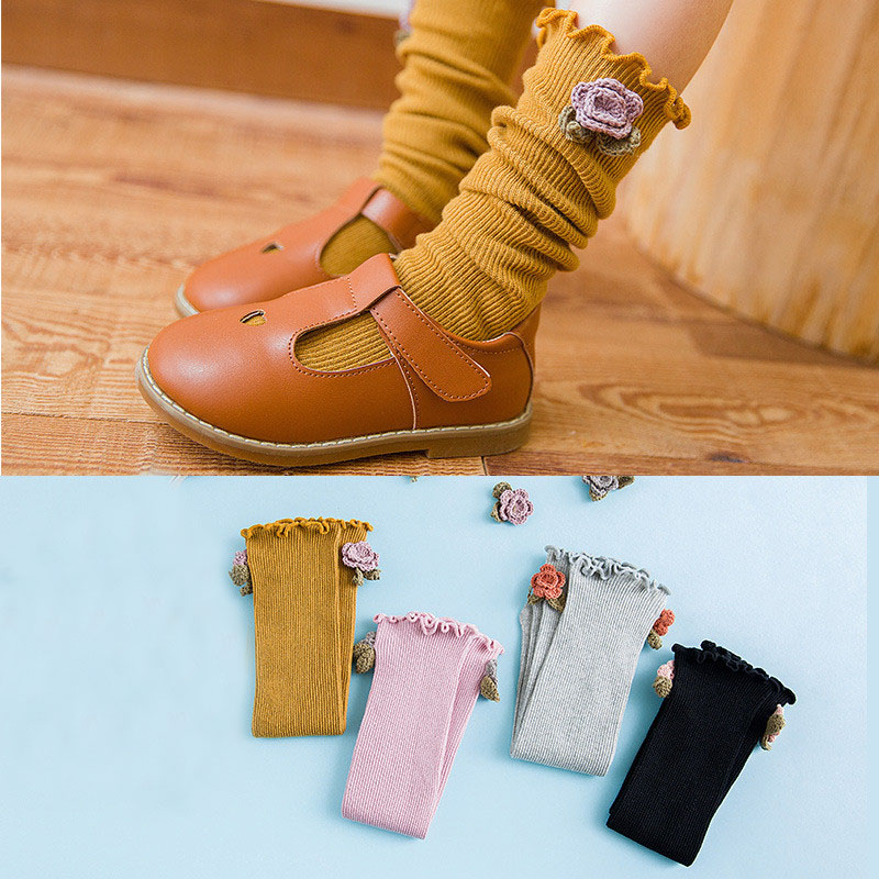 Lawadka 2018 New Cotton Baby Kid Girls Socks Princess Style Childrens Knee High Socks For Toddler Girl Clothing Accessories