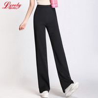Spring Pants Women 2017 New Fashionable High Waist White Black Work Wear Flare Pants And Trousers