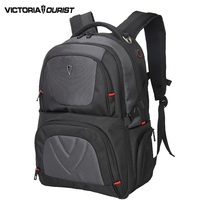 VICTORIATOURIST 17 Inch Antithief Laptop Backpack Men Large Capacity Back Pack Nylon Waterproof Backpacks V9002 Black