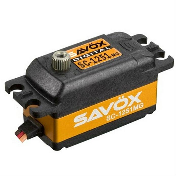 SAVOX Low Profile High Speed Metal Gear Digital Servo 1:8 1:10 RC Car SC-1251MG savox sc 1256tg high torque titanium gear digital steering coreless servo 20kg 63027