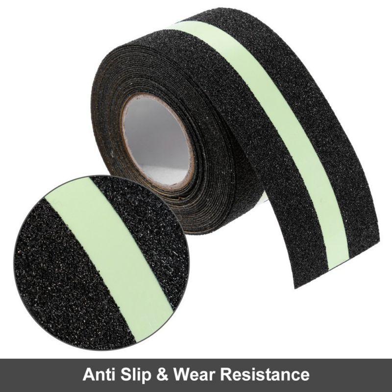 Anti Slip PVC Matte Luminous Tape Flame Retardant Water Resistance Strong Grip Traction Safety Warning Sandpaper Stickers Tape