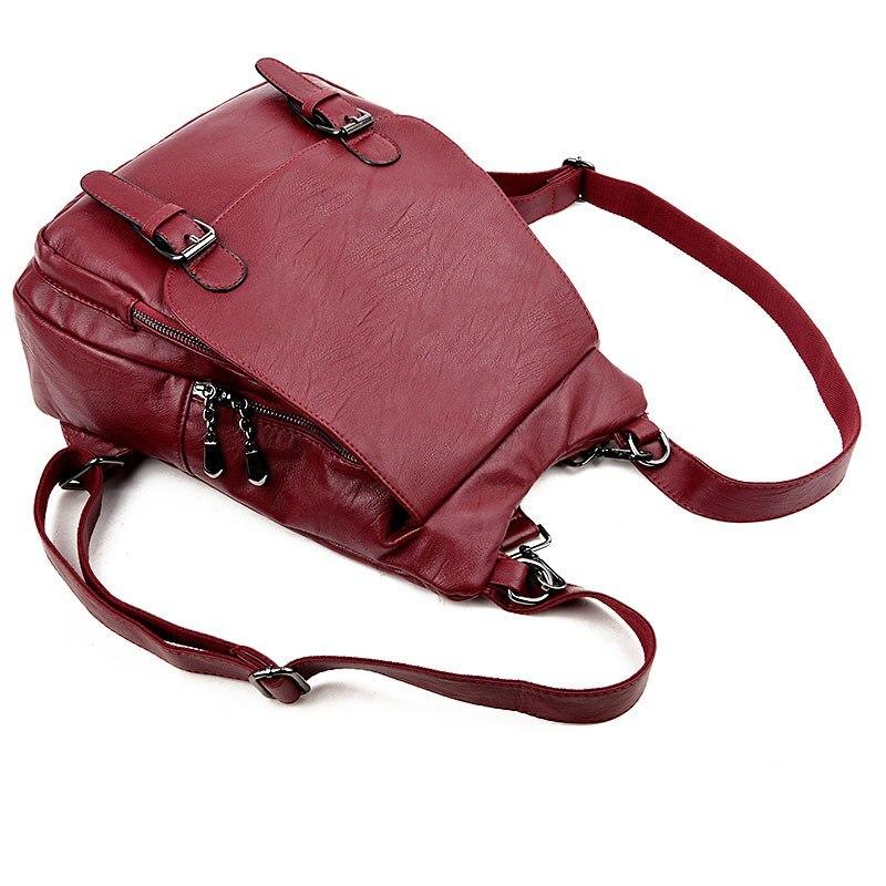 mulheres mochilas de couro feminino Tipo Pacote Internal Structure : Mobile Phone Bag, Sandwich Bag, Zipper Bag, Zipper