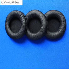 hot deal buy 50pcs=25pairs of 8cm leather ear cushions sponge headset durable ear pads 80mm for sony mdr-v55 mdr 7502 ath-ws70