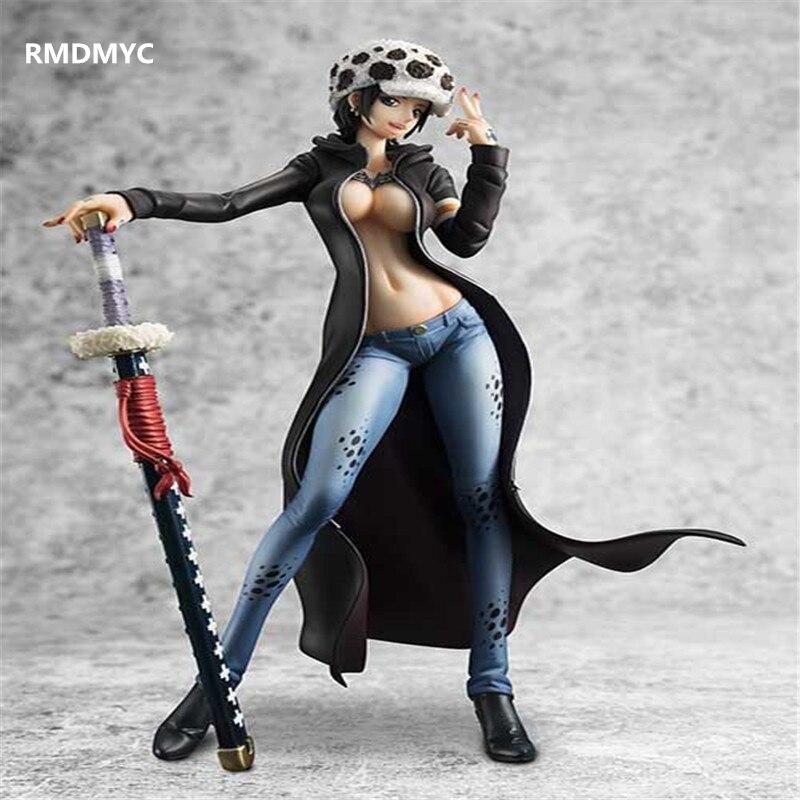 ФОТО RMDMYC 2017 One Piece Trafalgar Law Action Figure Toys Sexy 20cm Girl Bikini Ver Law PVC Model Doll Anime Figure toy for Gifts